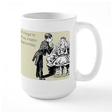 Happy Belated Birthday Large Mug