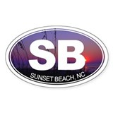 Sunset Beach, NC - Decal