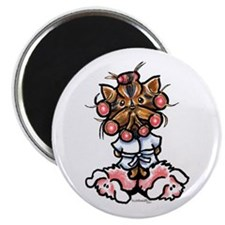 "High Maintenance Yorkie 2.25"" Magnet (100 pack)"