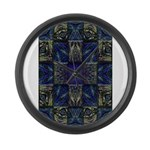 Eyes of the Night Large Wall Clock