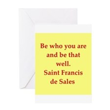 Saint Frances de Sales. Greeting Card