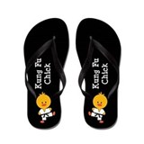 Kung Fu Chick Flip Flops