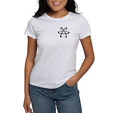 Athiest White Logo Tee