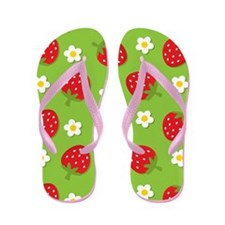Strawberry Retro Flip Flops