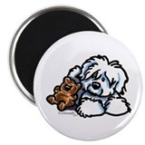 Coton de Tulear Cartoon Magnet