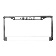 Gracie Carved Metal License Plate Frame