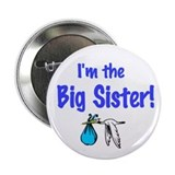 "Stork Baby Boy Shower ""I'm the Big Sister"" Pin"
