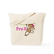 Cute Pre-K Monkey Gift Tote Bag