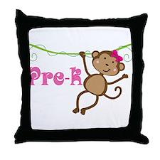 Cute Pre-K Monkey Gift Throw Pillow