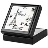 Vintage Eiffel Tower Keepsake Box