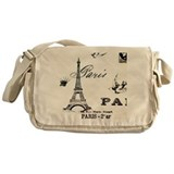 Vintage Eiffel Tower Messenger Bag