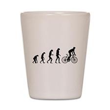 cycling evolution Shot Glass