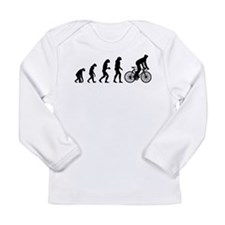 cycling evolution Long Sleeve Infant T-Shirt