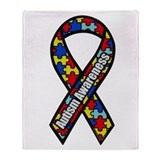 Autism Awareness Throw Blanket