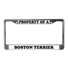 Property Of A Boston Terrier License Plate Frame