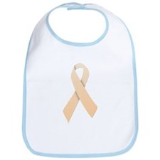 Peach Ribbon Bib