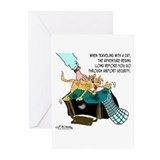 Cat on Board Greeting Cards (Pk of 20)