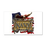US Navy Flag Anchors and Eagl Car Magnet 20 x 12