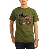 US Navy Flag Anchors and Eagl T-Shirt