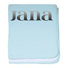 Jana Carved Metal baby blanket