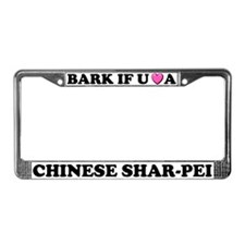 Bark Love Chinese Shar-Pei License Plate Frame