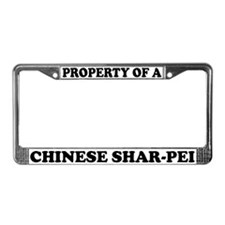 Property Of A Chinese Shar-Pei License Plate Frame