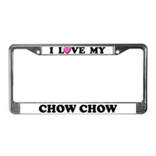 I Love My Chow Chow License Plate Frame