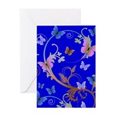 Blue & Purple Butterflies Greeting Card