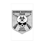 Zombie Response Team: Bronx Division Sticker (Rect