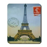 Vintage Eiffel Tower Mousepad