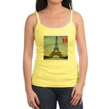 Vintage Eiffel Tower Ladies Top