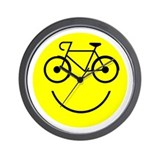 Smiley Cycle Wall Clock
