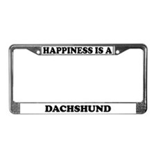 Happiness Is A Dachshund License Plate Frame