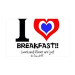 I love Breakfast 38.5 x 24.5 Wall Peel