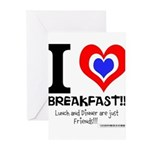 I love Breakfast Greeting Cards (Pk of 20)