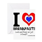 I love Breakfast Greeting Card