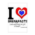 I love Breakfast Mini Poster Print