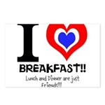 I love Breakfast Postcards (Package of 8)