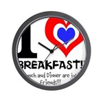 I love Breakfast Wall Clock