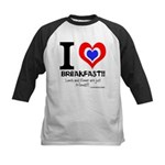 I love Breakfast Kids Baseball Jersey