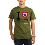 I love Breakfast Organic Men's T-Shirt (dark)