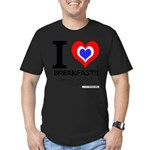 I love Breakfast Men's Fitted T-Shirt (dark)