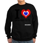 I love Breakfast Sweatshirt (dark)