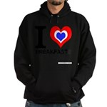 I love Breakfast Hoodie (dark)