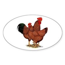Production Red Chickens Bumper Stickers