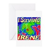 I Survived Irene Greeting Cards (Pk of 10)