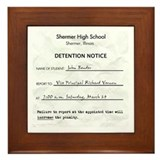 'Breakfast Club Detention' Framed Tile