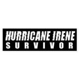 Hurricane Irene Survivor Bumper Sticker