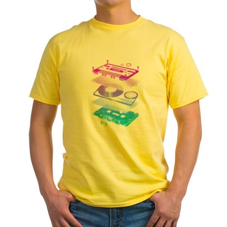 Cassette Explosion Yellow T-Shirt