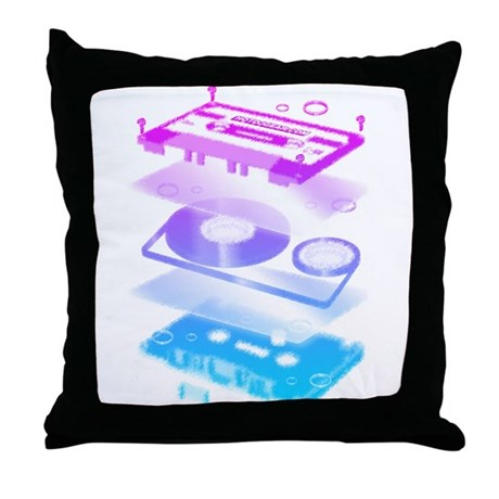 Cassette Explosion Throw Pillow